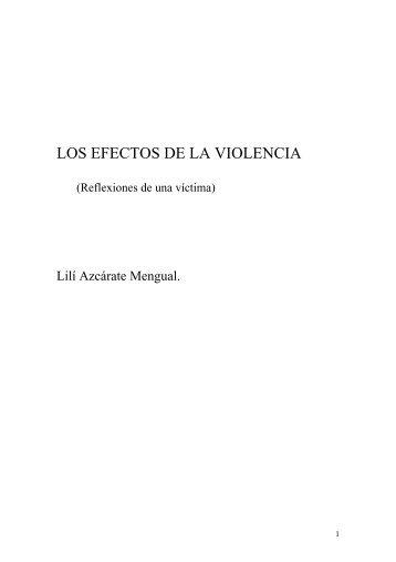 LOS EFECTOS DE LA VIOLENCIA - Acoso moral