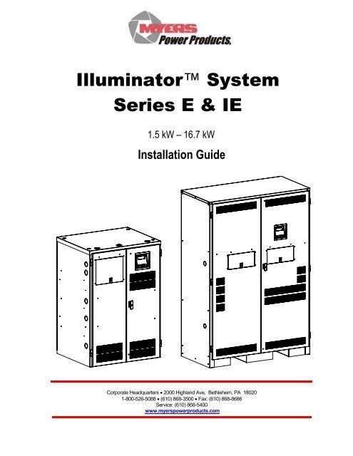 [SCHEMATICS_48IU]  Series E Installation Manual PDF - Myers Power Products, Inc. | Myers Inverter Wiring Diagram |  | Yumpu