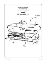 Rapid RD 300-400 C/S - Hjallerup Maskinforretning A/S