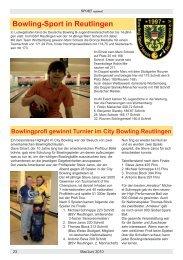 Bowling-Sport in Reutlingen Bowlingprofi gewinnt Turnier im City ...