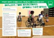 Wheelchair Basketball challenge card - School Games