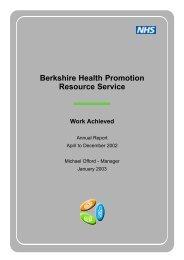 Berkshire Health Promotion Resource Service - Bhps.org.uk