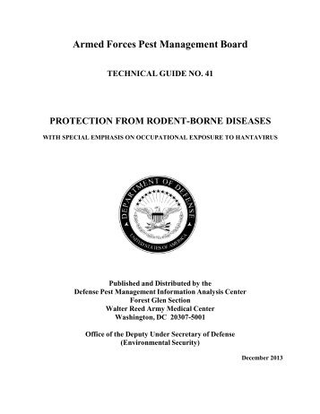 Protection from Rodent-borne Diseases with - Armed Forces Pest ...