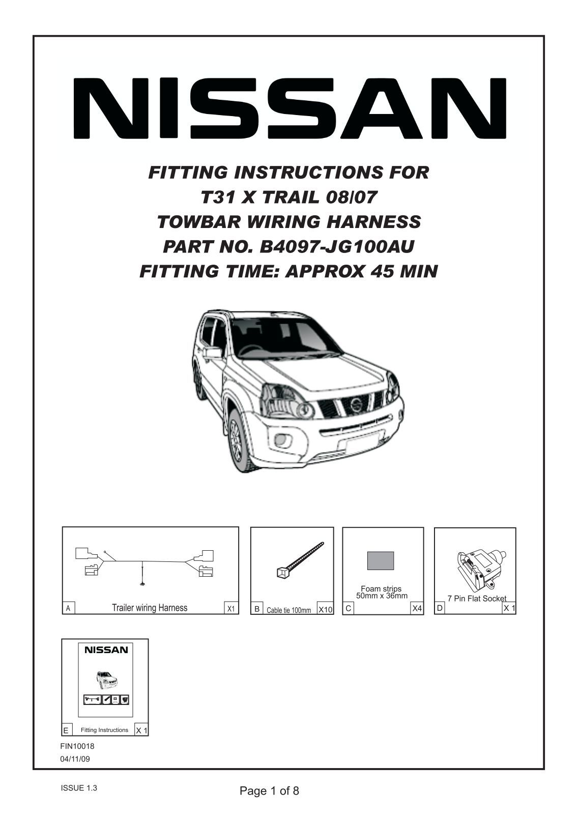 towbar wiring diagram pin flat towbar image nissan x trail towbar wiring  diagram wiring diagram and