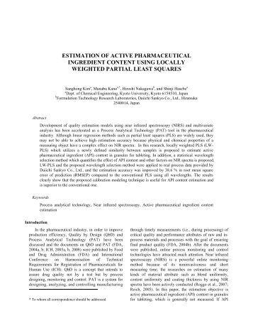 estimation of active pharmaceutical ingredient content ... - focapo
