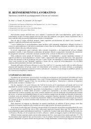 IL REINSERIMENTO LAVORATIVO - Dronet