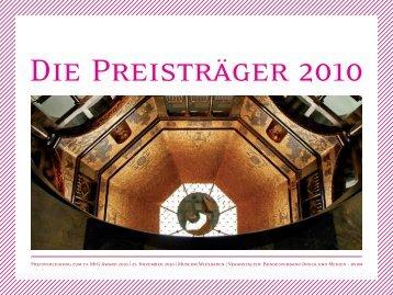 Preisverleihung zum 19. MfG Award 2010 | 25. November ... - bvdm