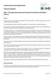 P601 Practical Assessment Requirements - BOHS