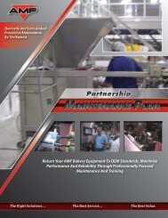 MAINTENANCE PLAN MAINTENANCE PLAN - AMF Bakery Systems