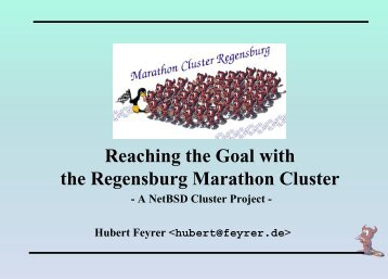 Reaching the Goal with the Regensburg ... - Dr. Hubert Feyrer