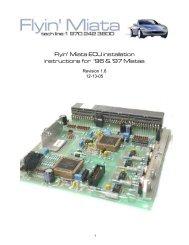Miata piggy back ECU installation & tuning - Flyin