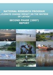 Read more - Klimata maiņas ietekme uz Latvijas ūdeņu vidi