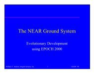 The NEAR Ground System - Center for Software Engineering