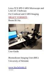User guide - Biomedicum Imaging Unit (BIU) - Helsinki.fi