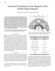 Numerical Calculations of the Magnetic Field of Bent Dipole Magnets