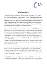 Formandsberetning og Beretning fra organisationer m.v. - Dansk ...