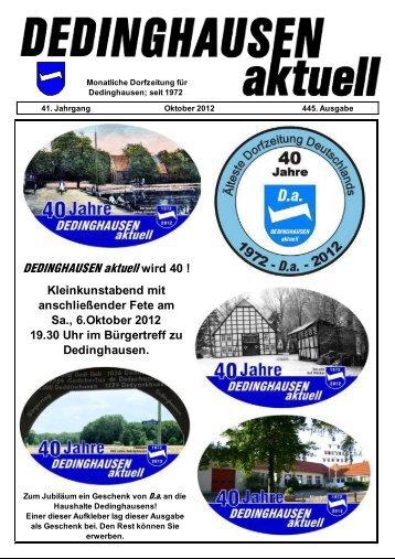 Da im Oktober - Dedinghausen