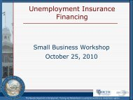 Unemployment Insurance Financing - Nevada Department of ...