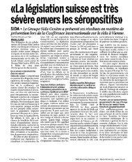 Lire l'article en pdf... - Groupe sida Genève