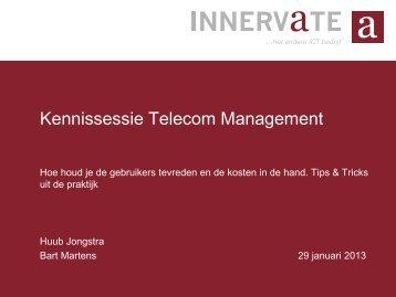 Kennissessie Telecom Management - Innervate