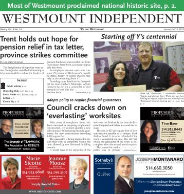 January 24 - Westmount Independent