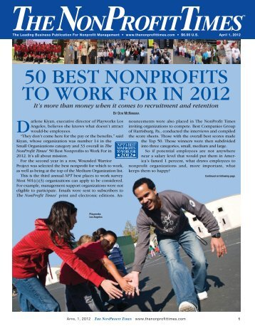 50 Best Nonprofits To Work For In 2012 - The NonProfit Times