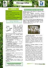 Elevage Infos - Chambre d'agriculture de l'Indre