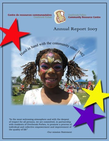Annual Report 2007 - Overbrook-Forbes Community Resource Centre
