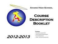 Course Descriptions - Aviano High School - DoDEA