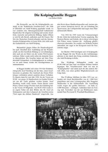 Die Kolpingfamilie Heggen - Heimatbund Finnentrop