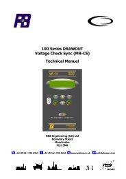 (MR-CS) Technical Manual - PBSI Group Ltd