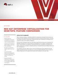 red hat enterprise virtualization for desktops: feature comparison