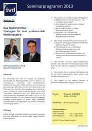 nähere Informationen und Anmeldung - IVD Mitte Ost