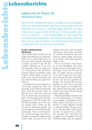 Lebensberichte - Zeit & Schrift