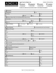 Credit Application Form (PDF) - Ames Tile & Stone