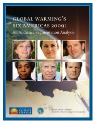 Global Warming's Six Americas, 2009 - Center for Climate Change ...
