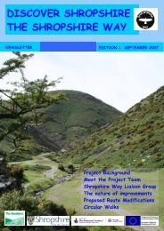DISCOVER SHROPSHIRE THE SHROPSHIRE WAY Project ...