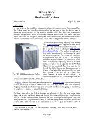 TUDA @ ISAC-II Ethanol Handling and Procedures