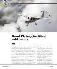 Good Flying Qualities Add Safety - Left Seat