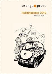 Herbstbücher 2010 - Orange Press