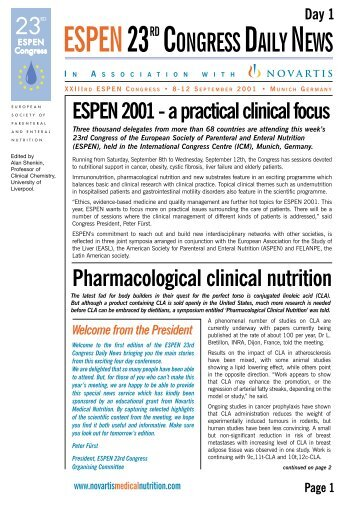 1 - European Society for Clinical Nutrition and Metabolism