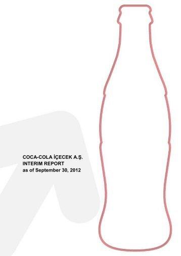 COCA-COLA İÇECEK A.Ş. INTERIM REPORT as of September 30 ...