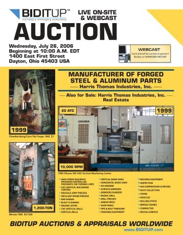 AUCTION - National Machinery Exchange