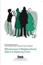 Effectiveness of Neighbourhood Watch on Reducing Crime