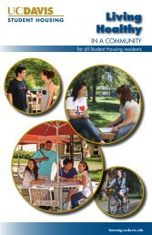 Living Healthy - UC Davis Student Housing