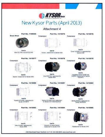 New Products April 2013 - CBS Parts Ltd.