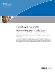 GoToAssist Corporate Remote support made easy - Citrix Online