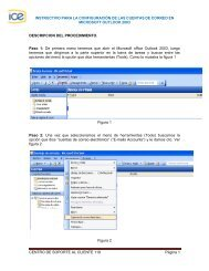 Configuración Outlook 2003 - Grupo ICE