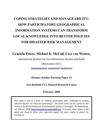 COPING STRATEGIES AND MANAGEABILITY: HOW ...
