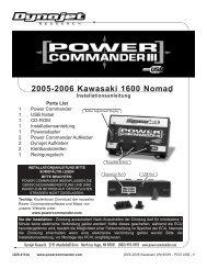 2005-2006 Kawasaki 1600 Nomad - Power Commander